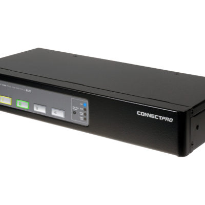 Angle View of PR-14 a 4 port PS/2 VGA KVM switch