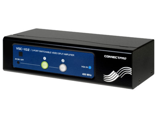 Angle view of the VSC-102 a two port vga manageable splitter